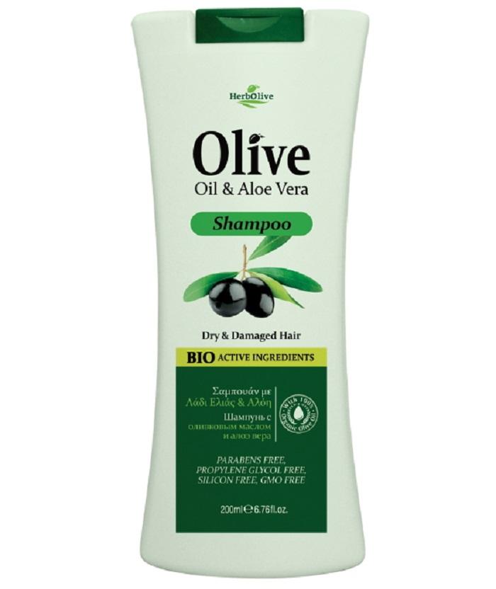 HerbOlive Шампунь для сухих волос с алоэ-вера 200 млFS-00897Шампунь Herbolive с экстрактом алое вера, питает волосы у корней, обеспечивает сбалансированный уход за волосами и кожей головы. Оливковое масло и насыщенная травяная база питают минералами и витаминами кожу головы, содействует здоровому роста волос. Мягко и эффективно очищает волосы, повышет прочность и эластичность, обеспечивая дополнительный объем и блеск. Косметика произведена в Греции на основе органического сырья, НЕ СОДЕРЖИТ минеральные масла, вазелин, пропиленгликоль, парабены, генетически модифицированные продукты (ГМО)