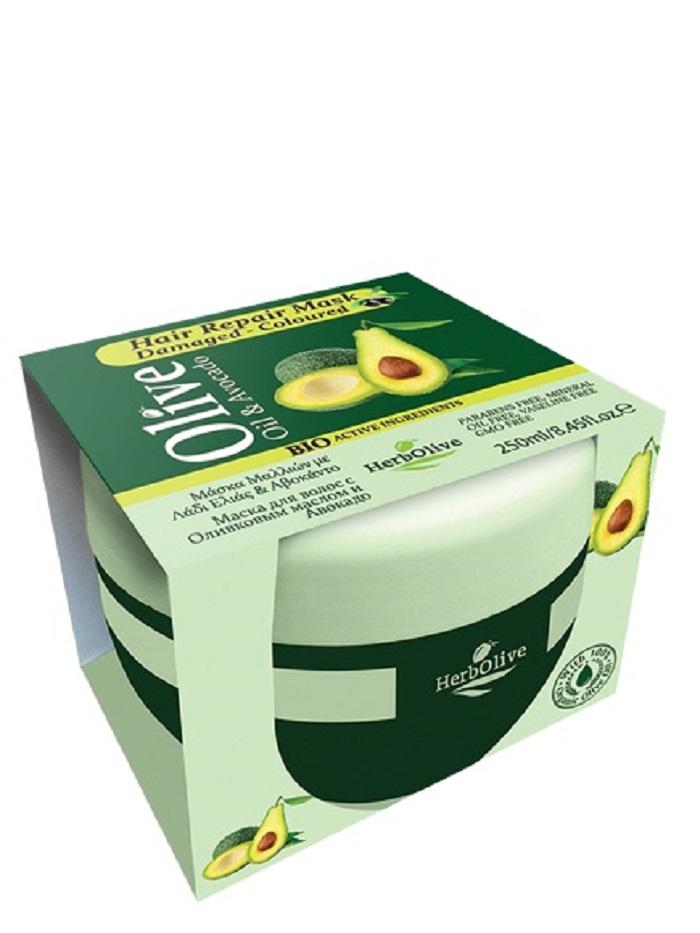 HerbOlive Маска для сухих волос восстанавливающая с маслом оливы и авокадо 250 мл086-04-33724Маска идеально подходит для сухих и обезвоженных волос, ухаживает за волосами обогащая их питательными веществами. Входящий в состав авокадо способствует укреплению волос, предотвращает их выпадение. Придает блеск тусклым волосам. Укрепляет корни, восстанавливает поврежденные и безжизненные волосы. Глубоко проникает в структуру, удерживая влагу в клетках. Натуральное оливковое масло способствует росту волос, увлажняет, делает объемными и эластичными.Подходит для частого использования. Косметика произведена в Греции на основе органического сырья, НЕ СОДЕРЖИТ минеральные масла, вазелин, пропиленгликоль, парабены, генетически модифицированные продукты (ГМО)