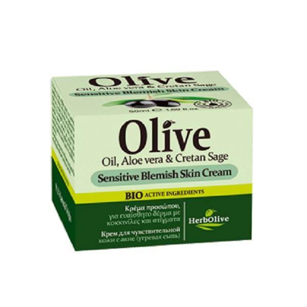 HerbOlive Крем для лица для чувствительной и проблемной кожи (акне, угревая сыпь) 50 млУТ000001716Крем рекомендуется применять с 16 лет для жирной кожи и кожи, склонной к воспалениям. Подходит для использования, как в дневное, так и в ночное время, матирует кожу, хорошо впитывается, обладает себорегулирующим эффектом.Пантенол и никатинамид снимает воспаления, помогает ранозаживлению. Благодаря такому сочетанию крем помогает бороться с угревой сыпью и застойными пятнами, остающиеся после акне.Масло ши, оливы, арганы питают кожу.Экстракты алоэ, розмарина, шалфея, лакрицы успокивает, дизенфицирует, увлажняет.Косметика произведена в Греции на основе органического сырья, НЕ СОДЕРЖИТ минеральные масла, вазелин, пропиленгликоль, парабены, генетически модифицированные продукты (ГМО)