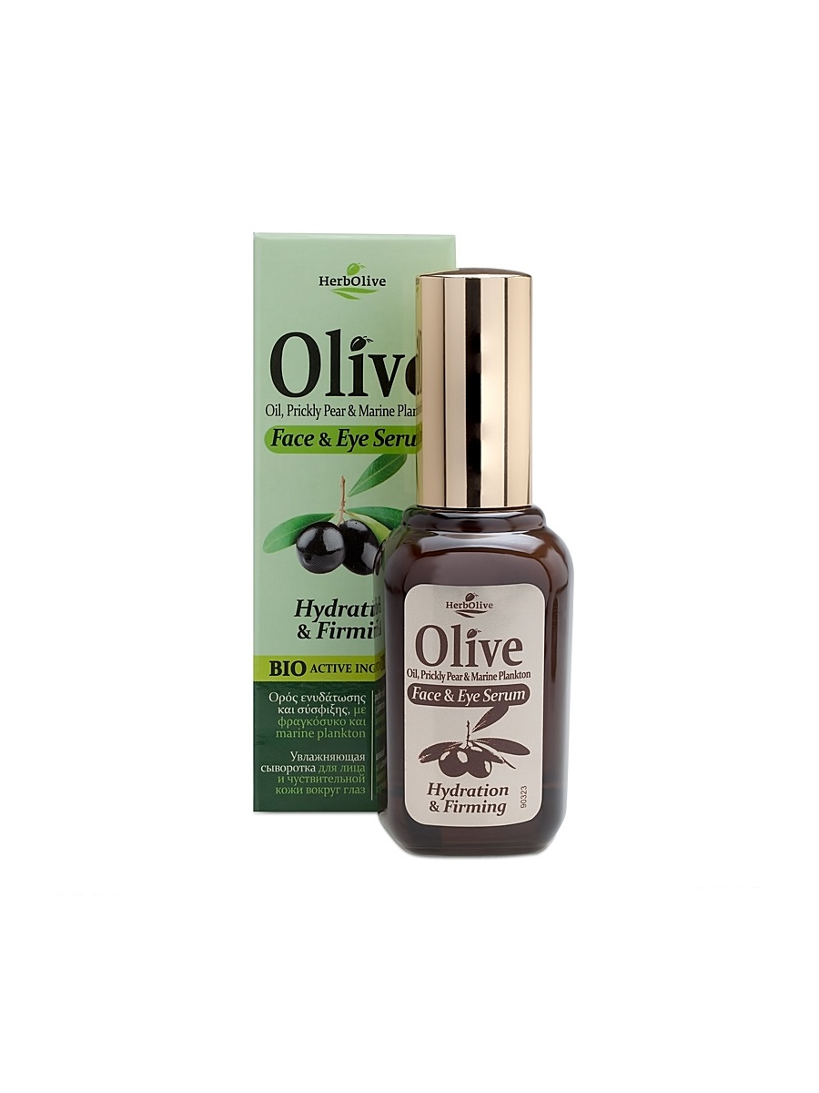 HerbOlive Увлажняющая сыворотка для лица и чувствительной кожи вокруг глаз 30 мл5200310402753Сыворотка с легкой консистенцией, прекрасно впитывается, идеальна для всех типов кожи с 18 лет.Активные ингредиенты:Экстракт плодов опунции богат увлажняющими элементами способен защищать кожу от воздействия свободных радикалов, защищает от возрастных изменений; - превосходно смягчает, питает и восстанавливает кожу, разглаживает морщины.Масло оливы, арганы питает кожу и наполняет витаминами.Экзополисахарид морского планктона содержит полезные микроэлементы, придает упругость, Укрепляет кожу и подтягивает овал лица, сглаживает и заполняет морщины, выравнивает рельеф кожи. Его тающая текстура придает комфорт коже сразу после применения; Розмарин дезинфицирует, предотвращает появление воспалений на коже. Стимулирует местный имуннитет.саликорния морская спаржа выравнивает тон кожи. Косметика произведена в Греции на основе органического сырья, НЕ СОДЕРЖИТ минеральные масла, вазелин, пропиленгликоль, парабены, генетически модифицированные продукты (ГМО)