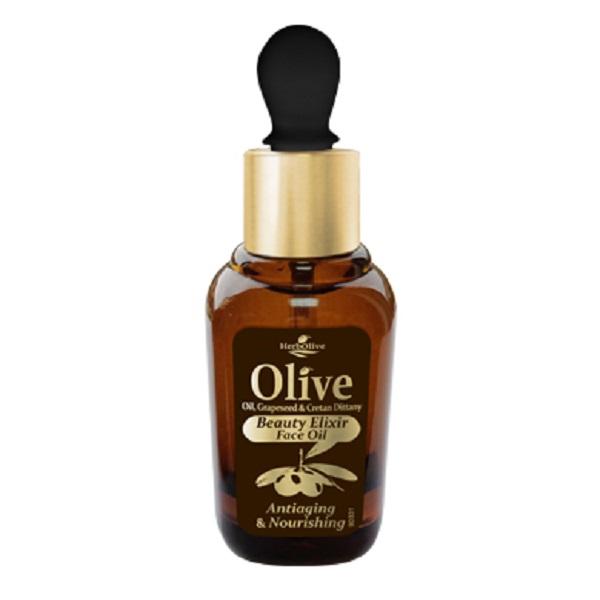 HerbOlive Питательное масло - эликсир красоты для лица против старения, 30 мл5200310402760Питательное масло эликсир против старения кожи лица с маслом косточек винограда, розмарином и критской душицей. Эти компоненты в сочетании с маслом оливы и маслом подсолнечника являются натуральными антиоксидантами и отличаются богатым содержанием питательных элементов и витаминов.Рекомендуется для сухой и нормальной кожи с 30 лет.Косметика произведена в Греции на основе органического сырья, НЕ СОДЕРЖИТ минеральные масла, вазелин, пропиленгликоль, парабены, генетически модифицированные продукты (ГМО)