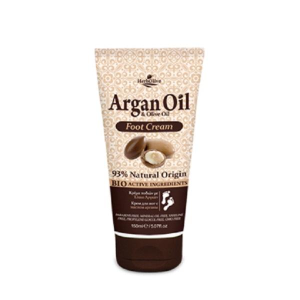 ArganOil Крем для ног с маслом арганы 150 млOL-81503651Масло арганы и масло оливы - эти ингредиенты известны своими питательными, увлажняющими и антиоксидантными свойствами. Крем защищает и ухаживает за кожей ног, придавая ощущение бархатной мягкости. Натуральные компоненты крема обеспечивают увлажнение ног иделают их гладкими имягкими, способствуют восстановлению кожи . Крем быстро впитывается, увлажняет. Активные ингредиенты: масло арганы, экстракт органического алоэ, масло ши, витамин Е и пантенол. Косметика произведена в Греции на основе органического сырья, НЕ СОДЕРЖИТ минеральные масла, вазелин, пропиленгликоль, парабены, генетически модифицированные продукты (ГМО)