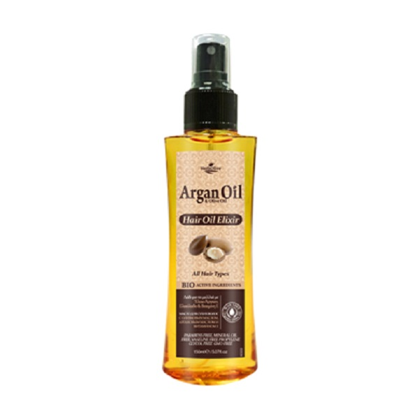 ArganOil Масло-эликсир для волос с маслом арганы 150 мл051756805032Масло подходит для сухих и поврежденных волос, предупреждает появление секущихся кончиков. Содержит активные ингредиенты: масло Арганы, органическое оливковое масло, подсолнечное масло и витамин Е. Увлажняет, питает и оказывает антиоксидантное действие. Бережно ухаживает за волосами, придает им блеск, незаменим при лечении секущихся кончиков и поврежденных волос. Косметика произведена в Греции на основе органического сырья, НЕ СОДЕРЖИТ минеральные масла, вазелин, пропиленгликоль, парабены, генетически модифицированные продукты (ГМО)