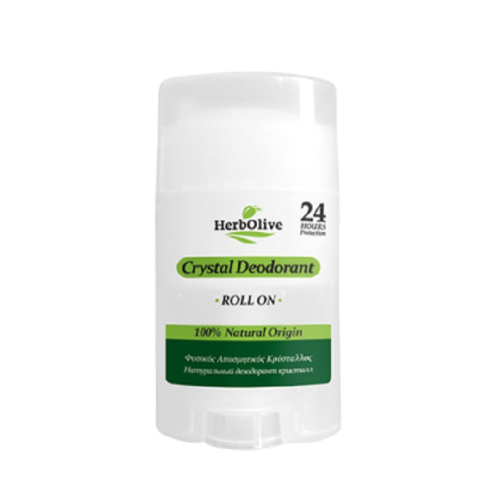 HerbOlive Дезодорант для тела Кристалл натуральный роллер 70 гFS-00897Дезодорант Кристалл, является великолепным способом борьбы с нежелательными запахами. Он естественным образом действуют против бактерий, предлагая защиту и непревзойденную свежесть 24 часа. Немного смочите камень перед использованием и нанесите на чистую и сухую кожу подмышек или ног.Косметика произведена в Греции на основе органического сырья, НЕ СОДЕРЖИТ минеральные масла, вазелин, пропиленгликоль, парабены, генетически модифицированные продукты (ГМО)