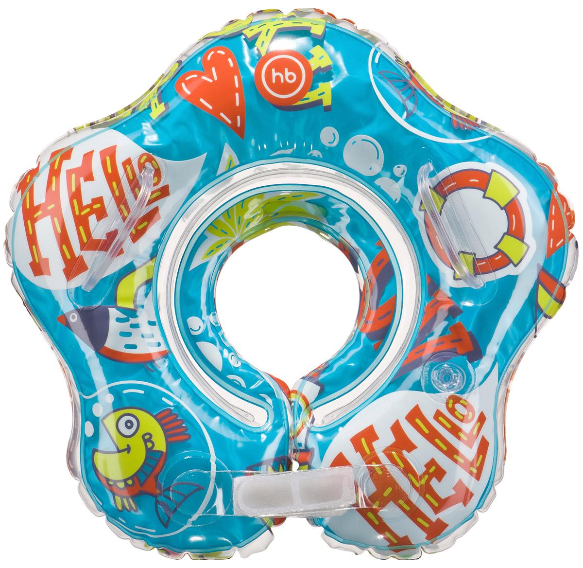Happy Baby Детский надувной музыкальный круг на шею Dolfy от 3 месяцев -  Круги для купания