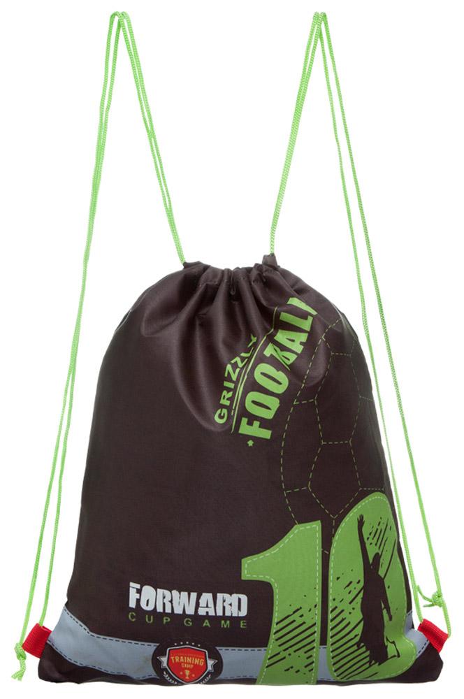Grizzly Мешок для обуви Grizzly FootballOM-671-3/1Мешок для обуви Grizzly Grizzly Football изготовлен из ткани Оксфорд 250 Д с водоотталкивающей пропиткой. Мешок имеет одно отделение, закрывающееся стягивающимся нейлоновым шнуром. Плотная прочная ткань надежно защитит обувь школьника от непогоды, а удобные петли шнура позволят носить мешок как в руках, так и за спиной.