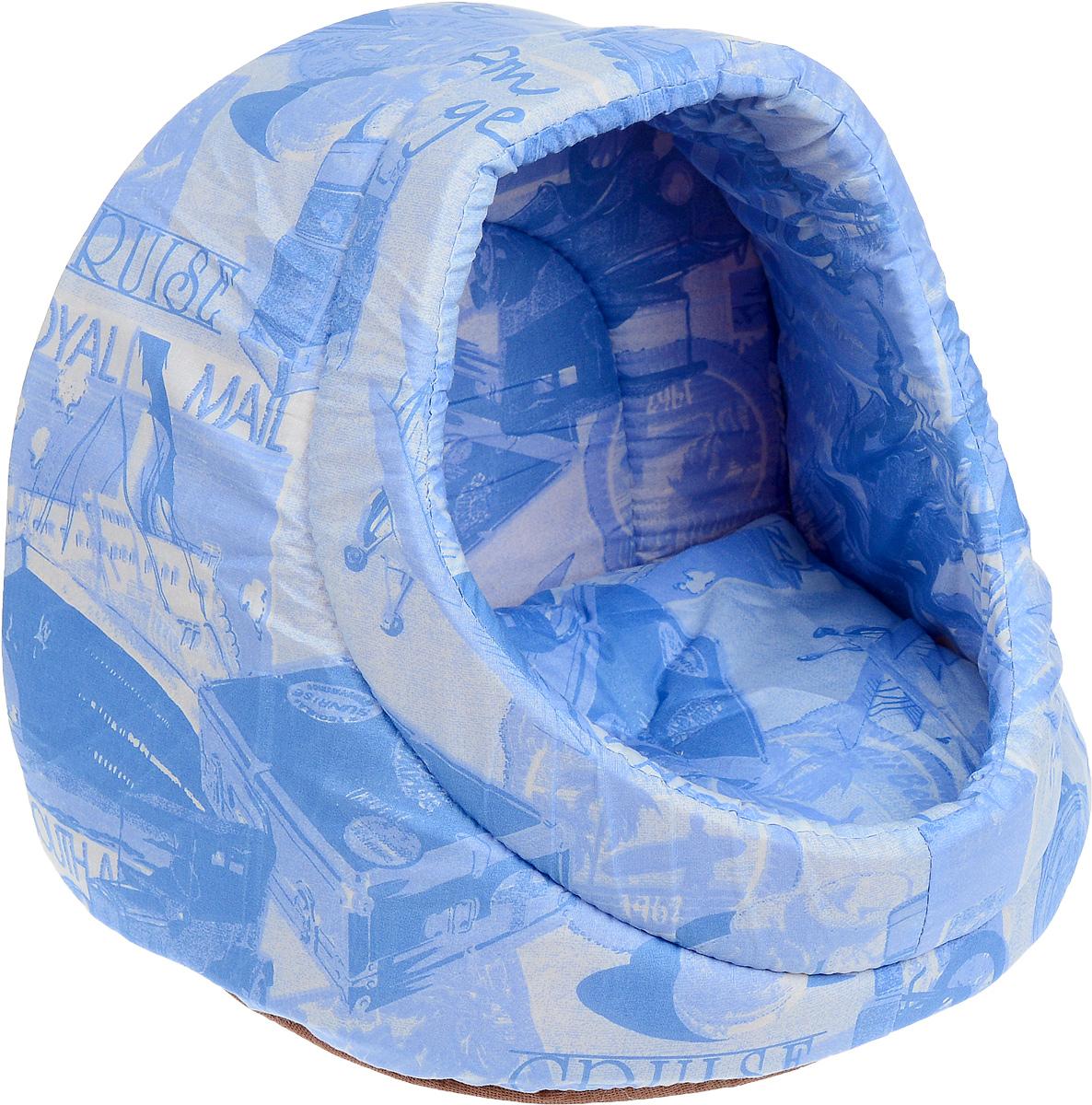 Лежак для кошек Бобровый дворик Ракушка, цвет: голубой, белый, 40 х 33 х 33 см. 6734512Лежак для кошек Бобровый дворик Ракушка станет уютным местом для вашейпушистой любимицы. Лежак представляет собой небольшой домик, напоминающийпо форме ракушку. Изделие выполнено из хлопка с наполнителем из мебельногопоролона повышенной жесткости и спанбонда. Домик прекрасно держит форму, внем вашей кошке будет уютно, мягко и комфортно. Там она сможет подремать,отдохнуть и просто спрятаться.