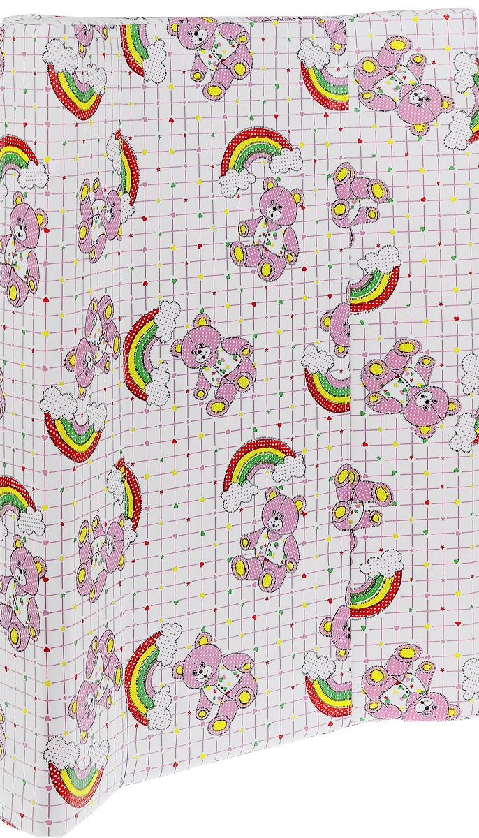 Фея Доска пеленальная Параллель Мишки цвет белый розовый