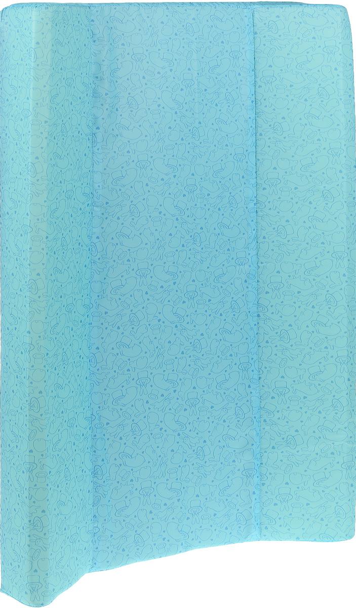 Фея Доска пеленальная Параллель Виниллайт Кролики цвет голубой