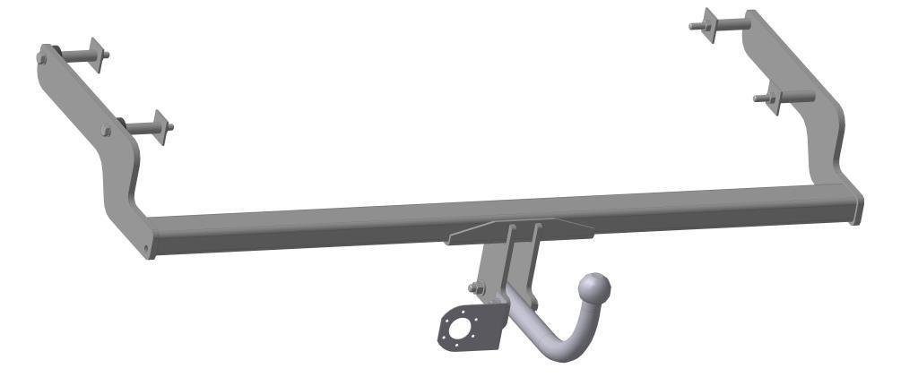 Фаркоп Bosal для Renault Fluence 2011/01->..., горизонтальная/вертикальная нагрузка на шар 1200/75 (без электрики, вырез в бампере), 1428-A80621Тип шара А – съемный на двух болтах шар, грузоподъемность 1500 кг.