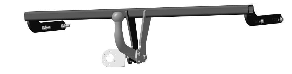 Фаркоп Bosal для Skoda Rapid 2014->..., горизонтальная/вертикальная нагрузка на шар 1500/75 (без электрики), 1925-A2615S545JBТип шара А – съемный на двух болтах шар, грузоподъемность 1500 кг.