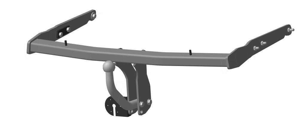Фаркоп Bosal для Ford S-Max 2006->..., горизонтальная/вертикальная нагрузка на шар 1200/50 (без электрики, вырез в бампере), 3960-A80621Тип шара А – съемный на двух болтах шар, грузоподъемность 1500 кг.