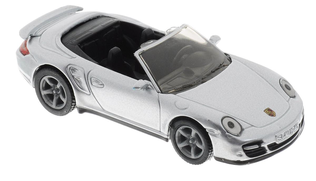 """Модель автомобиля Siku """"Porsche 911 Turbo Cabrio"""" станет замечательным подарком для любителей автомобилей всех возрастов. Модель представляет собой реалистичную копию реального авто. Модель отличается высокой степенью детализации. Корпус модели выполнен из металла, детали изготовлены из ударопрочной пластмассы. Прорезиненные колеса имеют свободный ход. Ваш ребенок часами будет играть с такой игрушкой, придумывая различные истории и устраивая соревнования."""