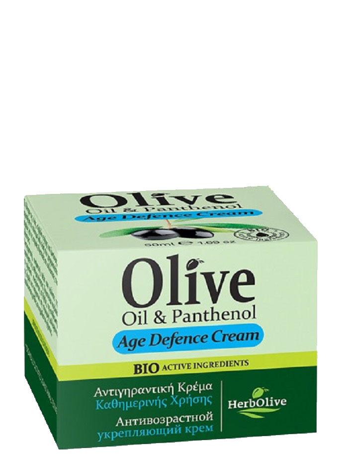 HerbOlive Крем для лица антивозрастной укрепляющий с пантенолом 50 млУТ000001716Крем для лица с пантенолом. Рекомендуется применять с 30 лет. Крем антивозрастной защитный крем. Подходит для увядающей кожи.Содержит UF фильтр, предотвращающий старение кожи Масло сладкого миндаля, масло ши, витамин Е, пантенол питают и увлажняют кожу, экстракт витекса оказывает противовоспалительное тонизирующее средство, прекрасно подходит для увядающей кожи, уставшей кожи, повышает эластичность.Косметика произведена в Греции на основе органического сырья, НЕ СОДЕРЖИТ минеральные масла, вазелин, пропиленгликоль, парабены, генетически модифицированные продукты (ГМО)