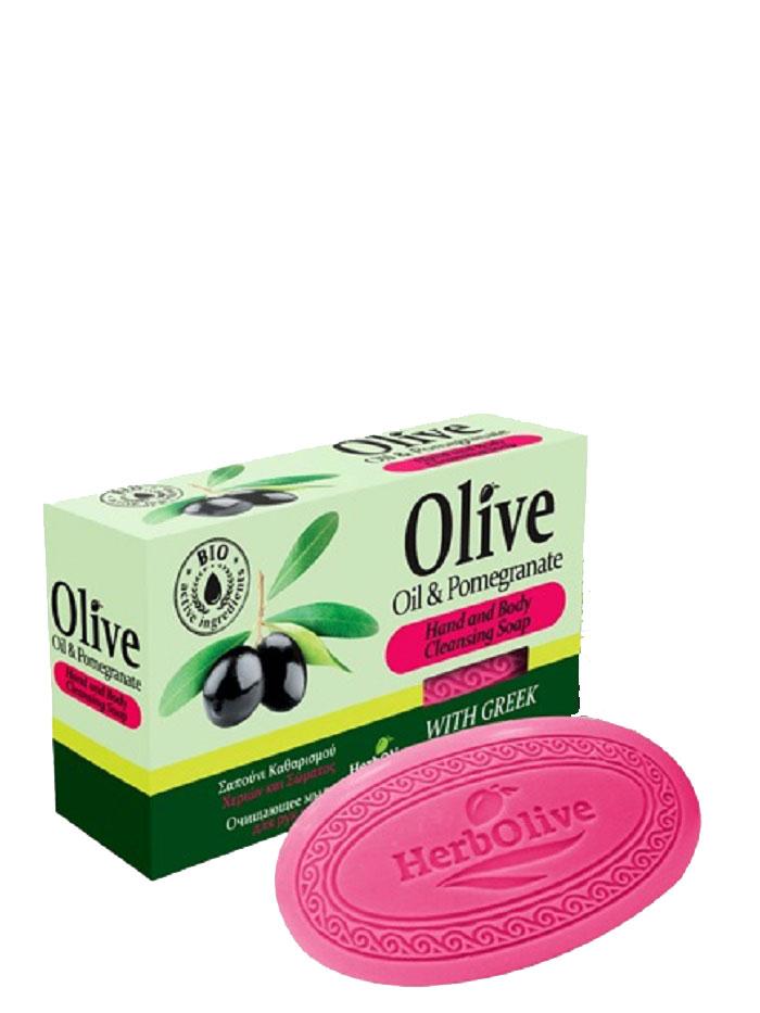 HerbOlive Оливковое мыло с гранатом 90 г44586/5-0533Природные антиоксиданты которые содержатся воливковом мыле увлажняют ипитают кожу. Натуральное оливковое мыло, производится безискусственных красителей ихимических добавок, стимулируют новые клетки крегенерации изамедляет старение. Втоже время смягчает кожу иоблегчает многие заболевания, включая акне, экзему. Косметика произведена в Греции на основе органического сырья, НЕ СОДЕРЖИТ минеральные масла, вазелин, пропиленгликоль, парабены, генетически модифицированные продукты (ГМО)