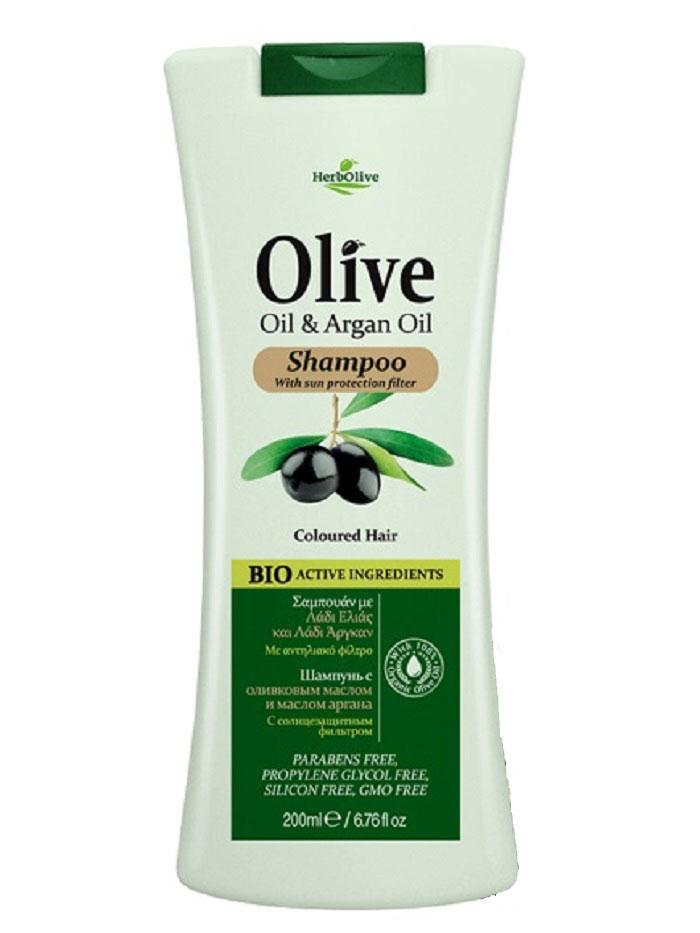 HerbOlive Шампунь для окрашенных волос с маслом арганы, 200 мл0861-10501Шампунь для волос с маслом арганы. Мягко очищает волосы. Содержит органическое оливковое масло, масло Арганы, витамины А и Е. Пантенол и антиоксиданты, увляжняют и восстанавливают волосы. Уникальное сочетание ингредиентов помогает защитить волосы и придает окрашенным волосам сияющий блеск. Косметика произведена в Греции на основе органического сырья, НЕ СОДЕРЖИТ минеральные масла, вазелин, пропиленгликоль, парабены, генетически модифицированные продукты (ГМО)