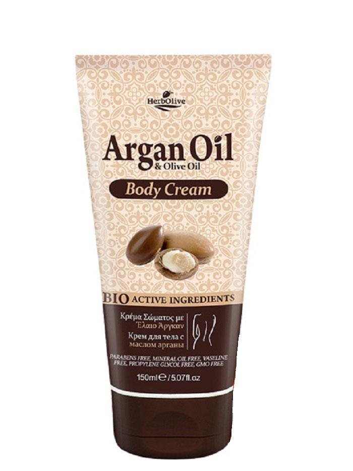 ArganOil Крем для тела увлажняющий 150 мл5200310402845Крем для тела содержит органическое оливковое масло, подсолнечное масло, глицерин, натуральные компоненты богатые витаминами. Обеспечивает глубокое увлажнение ипитание, антивозрастное, успокаивающее действие, Обладает омолаживающим эффектом, придает коже здоровый вид исвежесть. Косметика произведена в Греции на основе органического сырья, НЕ СОДЕРЖИТ минеральные масла, вазелин, пропиленгликоль, парабены, генетически модифицированные продукты (ГМО)