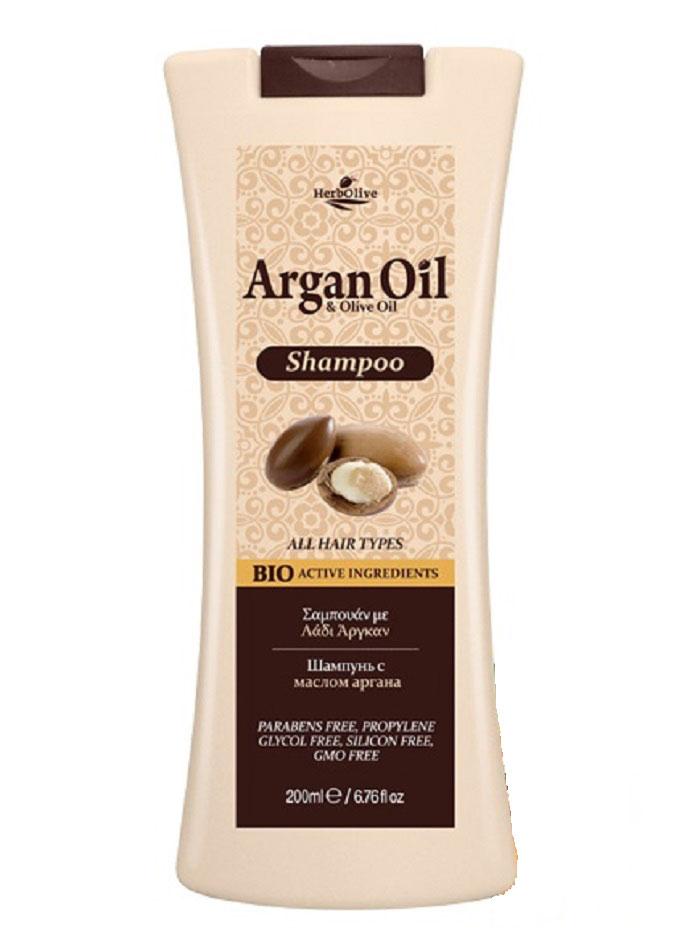 ArganOil Шампунь с маслом арганы для всех типов волос 200 мл086-02-33762Содержит органическое оливковое масло, масло арганы, витаминыА иЕ, пантенол, известные своими антиоксидантными свойствами, атакже способностью кувлажнению ивосстановлению волос. Все вместе создает уникальное сочетание компонентов, которые помогают защитить волосы, оживить цвет иблеск ипридать имздоровый вид