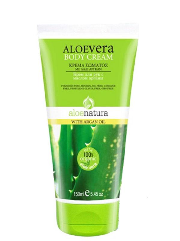 AloeNatura Крем для тела с маслом арганы 150 мл086-02-33427Крем для тела превосходно увлажняет и заботится о коже. Его легкая текстура обеспечивает отличную впитываемость, естественное и глубокое увлажнение в течение всего дня. Содержит: экстракт органического алоэ, масло ши, аргановое масло, миндальное масло, витамин Е и провитамин В5. Косметика произведена в Греции на основе органического сырья, НЕ СОДЕРЖИТ минеральные масла, вазелин, пропиленгликоль, парабены, генетически модифицированные продукты (ГМО)