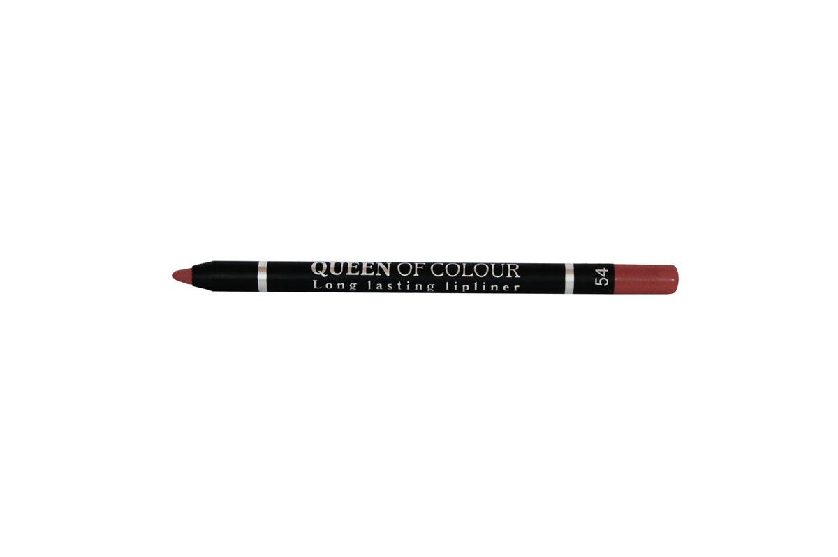 Ninelle Карандаш для губ Queen Of Colour №54SC-FM20104Абсолютно матовая, шелковистая и мягкая текстура изготовлена по принципу губной помады. Поэтому карандаш легко скользит по контуру губ, эффектно его подчеркивает и делает макияж максимально стойким в течение всего дня. Специальные насыщенные цветовые пигменты придают оттенкам роскошные насыщенные цвета, которые остаются на губах неизменными в течение всего дня. Усовершенствованная формула с витамином Е обеспечивает комфортное ощущение на губах и оказывает ухаживающее действие за нежным контуром губ. Карандаш выполнен в пластиковом, легко затачивающемся корпусе.