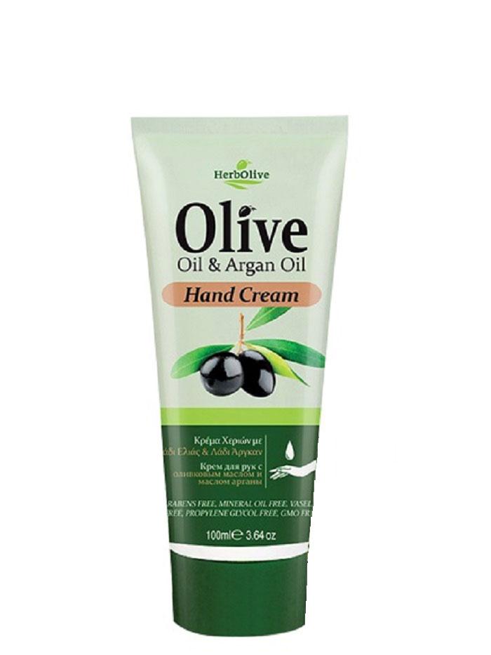 HerbOlive Крем для рук с маслом арганы 100 мл5200310403095Крем для рук с маслом арганы, на основе органического масла оливы идеально подходит для ежедневного использования. Легко впитывается увлажняет и смягчает кожу рук, защищает от сухости, раздражений, трещин и ежедневного воздействия внешней агрессивной среды. Увлажняет руки, делая их мягкими и гладкими.Косметика произведена в Греции на основе органического сырья, НЕ СОДЕРЖИТ минеральные масла, вазелин, пропиленгликоль, парабены, генетически модифицированные продукты (ГМО)