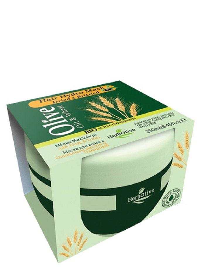 HerbOlive Маска для волос с пшеницей для сухих волос увлажнение и питание 250 мл2055898Маска подходит для всех типов волос. Натуральное оливковое масло и масло ростков пшеницы способствует питанию, восстановлению, росту волос, увлажняет, придает объем и эластичность. Маска делает волосы послушными в укладке, сильными и здоровыми, питает кожу головы и волосяные луковицы.Подходит для частого использования. Косметика произведена в Греции на основе органического сырья, НЕ СОДЕРЖИТ минеральные масла, вазелин, пропиленгликоль, парабены, генетически модифицированные продукты (ГМО)