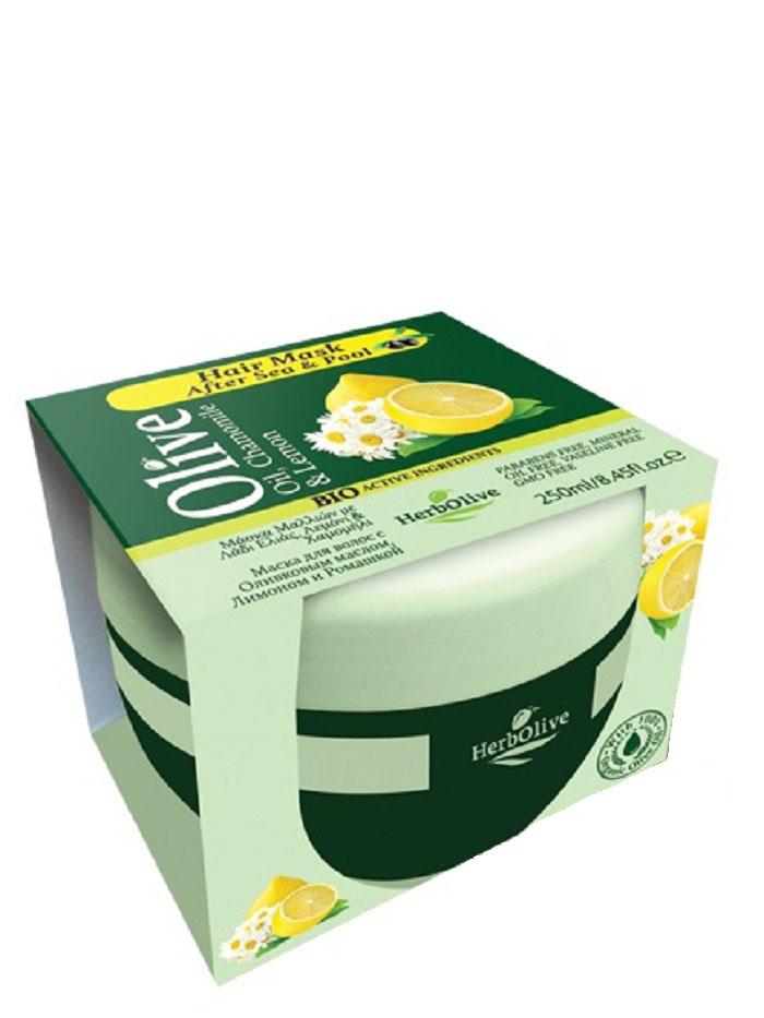 HerbOlive Маска для волос с маслом оливы, ромашкой и лимоном 250 мл086-04-33687Маска подходит для всех типов волос. Рекомендуется использовать маску после морской воды и посещения бассейна. Ромашка и лимон делает волосы шелковистыми, питает на клеточном уровне.Натуральное оливковое масло способствует росту волос, увлажняет, придает объем и эластичность. Предотвращает ломкость волос и появление секущихся кончиков. Маска делает волосы послушными в укладке, сильными и здоровыми, питает кожу головы и волосяные луковицы.Подходит для частого использования. Косметика произведена в Греции на основе органического сырья, НЕ СОДЕРЖИТ минеральные масла, вазелин, пропиленгликоль, парабены, генетически модифицированные продукты (ГМО)
