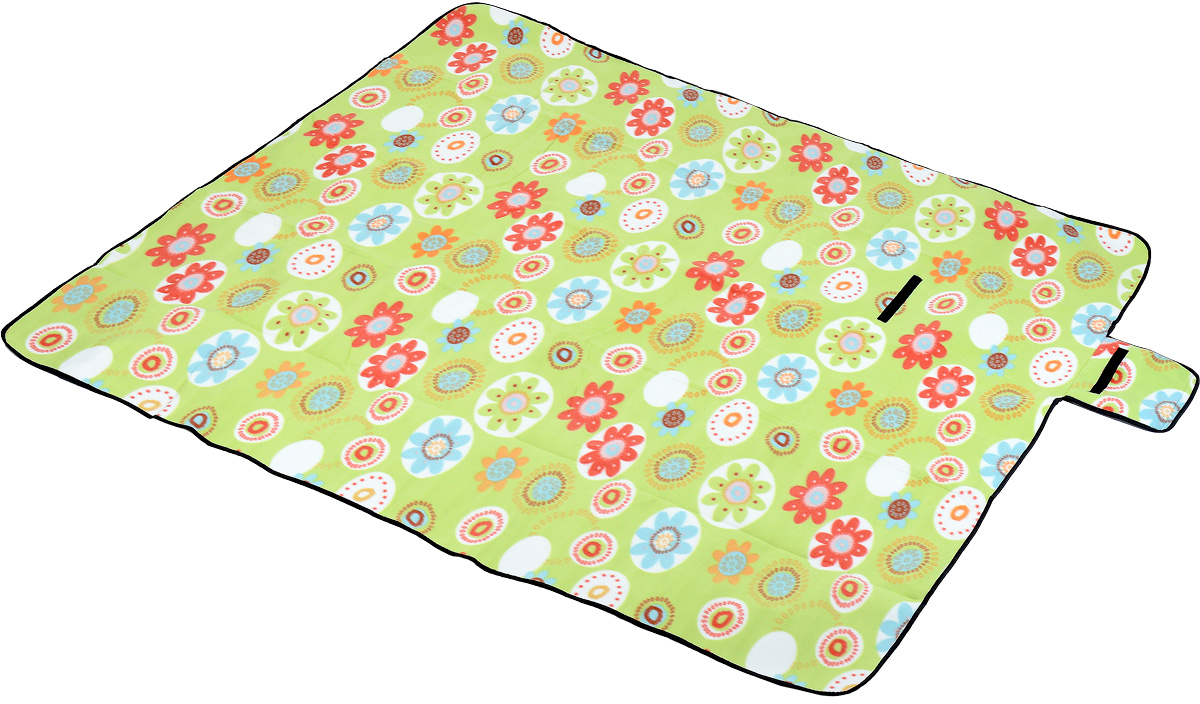 Коврик для пикника Wildman  Камелот , цвет: зеленый, голубой, красный, 200 х 200 см - Подушки, пледы, коврики