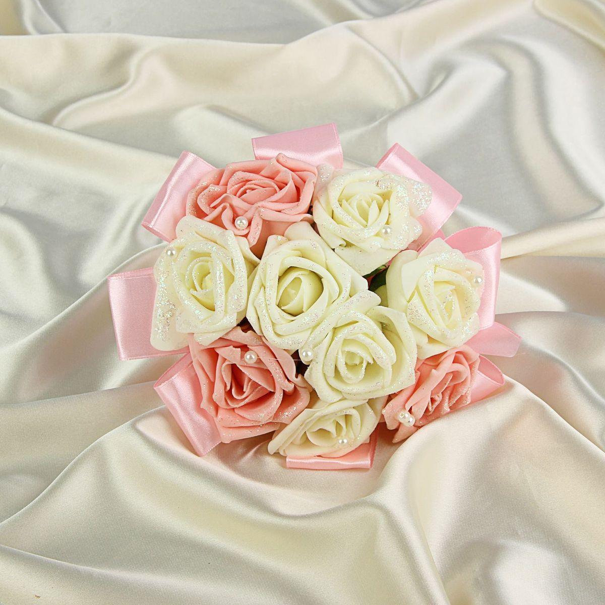 Букет-дублер  Sima-land , цвет: белый, розовый. 1262821 - Свадебные аксессуары