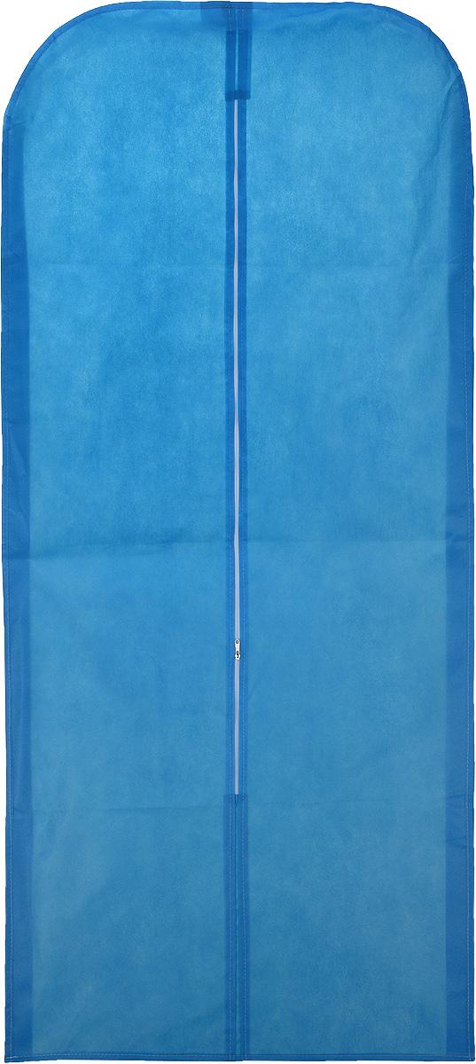 Чехол для одежды Eva, объемный, цвет: голубой, 140 х 65 х 10 смЕ26_голубойОбъемный чехол для одежды Eva изготовлен из высококачественного нетканого материала. Особое строение полотна создает естественную вентиляцию: материал пропускает воздух, что позволяет изделиям дышать. Чехол очень удобен в использовании. Благодаря наличию боковой вставки, увеличивается в объеме, что позволяет хранить крупные объемные вещи. Это особенно необходимо для меховой, кожаной и шерстяной одежды. Чехол легко открывается и закрывается застежкой-молнией. Чехол для одежды Eva создаст уютную атмосферу в женском гардеробе. Лаконичный дизайн придется по вкусу ценительницам эстетичного хранения.