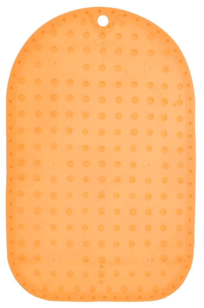 BabyOno Коврик противоскользящий для ванной цвет оранжевый 55 х 35 смBL505Коврик противоскользящий для ванной BabyOno предназначен для детских ванночек, ванн и душевых кабин. Имеет присоски, исключающие перемещение коврика по поверхности.Для правильного закрепления коврика следует сначала наполнить ванну водой, а затем вложить коврик и равномерно прижать с каждой стороны.Во время купания ребенок должен находиться под постоянным присмотром взрослого. Перед первым и после каждого купания коврик следует промыть в теплой воде с добавлением детского мыла, ополоснуть и высушить. Изделие не является игрушкой. Хранить в месте, недоступном для детей. Не содержит фталатов.Товар сертифицирован.