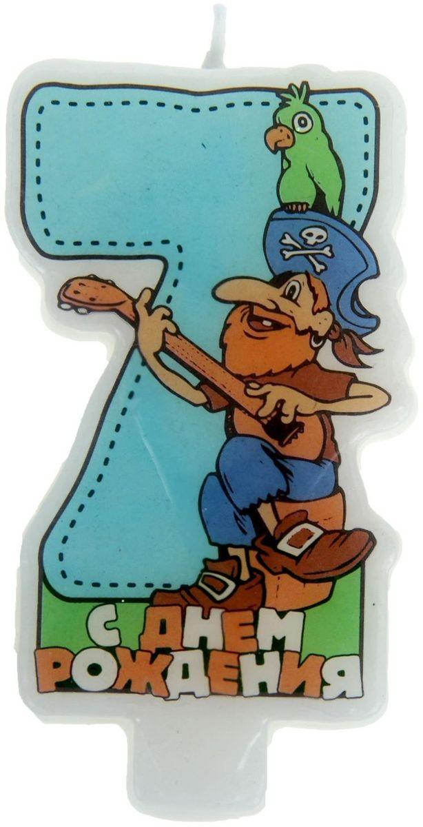 Sima-land Свеча для торта Цифра 7 Пират
