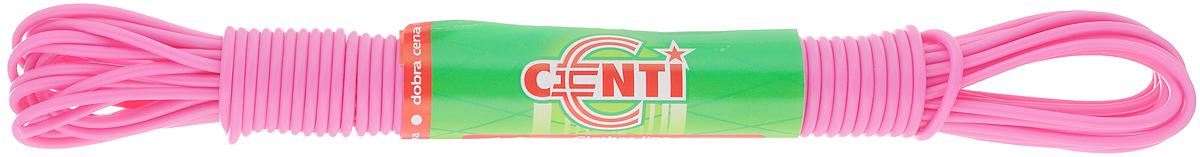 Шнур для белья Centi, цвет: розовый, 10 м114531Бельевая веревка Centi изготовлена из высококачественного полиэтилена и полипропилена. Веревка очень крепкая и надежная. При натягивании не провисает.Длина веревки: 10 м. Диаметр веревки: 2 мм.