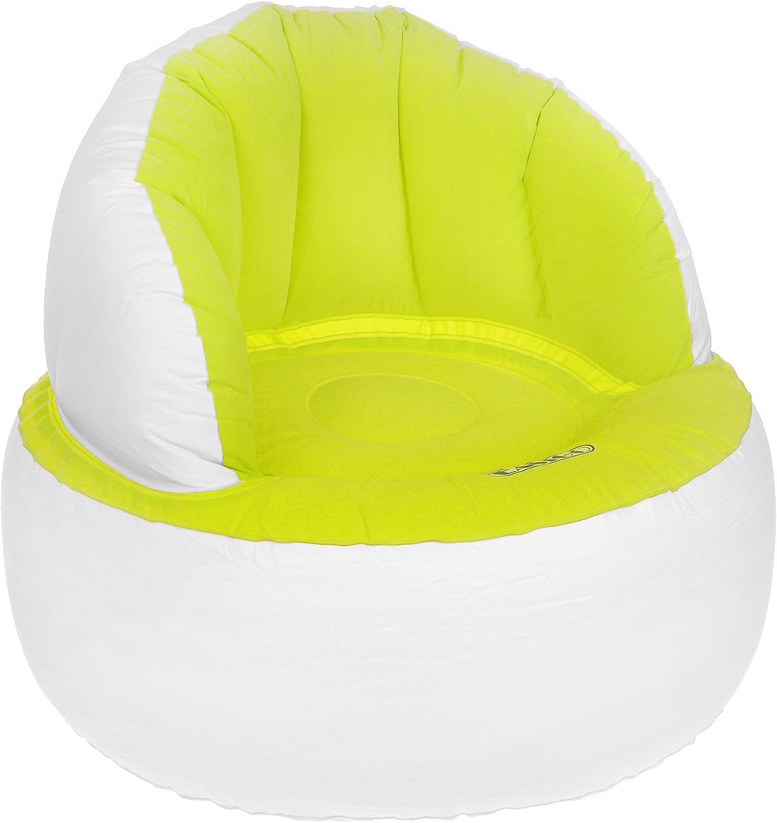 Кресло надувное Jilong Easigo Chair, цвет: салатовый, белый, 85 х 85 х 74 смJL037265NКресло надувное Jilong Easigo Chair выполнено из высококачественного винила с велюровым покрытием. Отлично подойдет для использования дома или в офисе.Особенности кресла:Водоотталкивающее флоковое покрытие. Специальная конструкция с хорошей поддержкой не только спины, но и поясницы Самоклеящаяся заплатка прилагается.Сдержанный дизайн, нейтральные цвета подходят к любому интерьеру и делают надувное кресло отличным выбором.Кресло поставляется в сдутом виде.