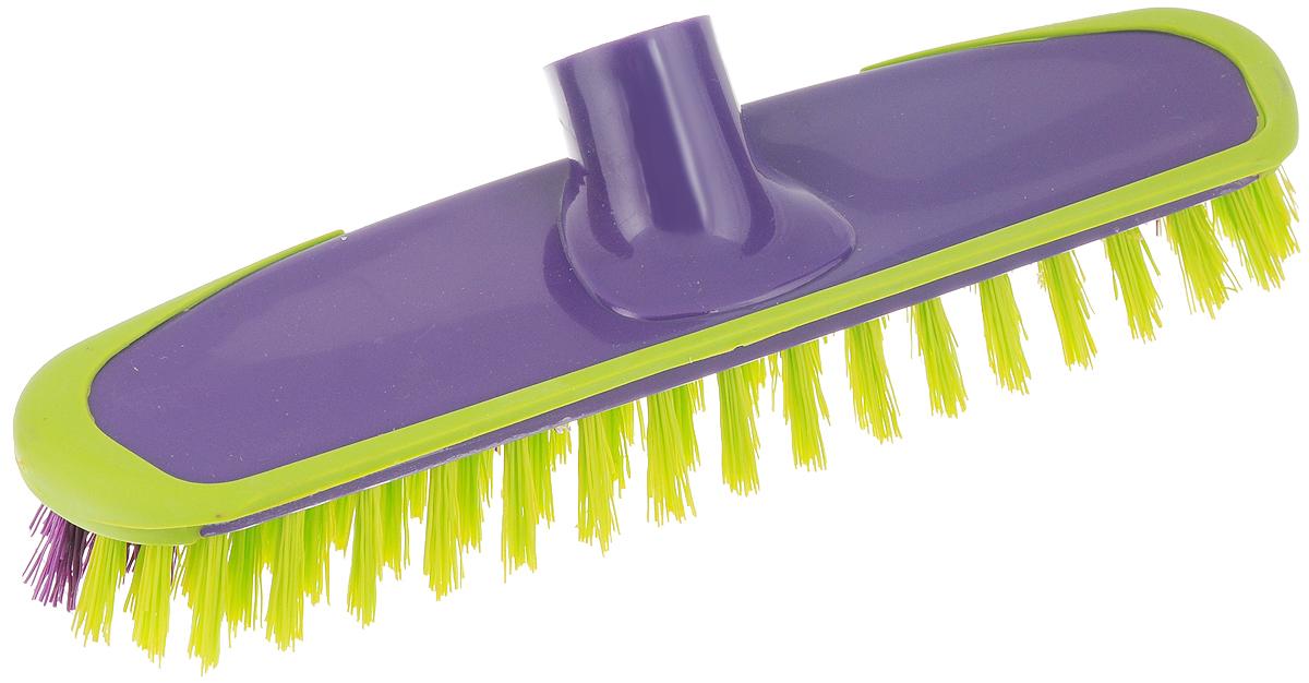 Щетка-скраббер York Prestige, без ручки, цвет: фиолетовый, салатовый, 25 х 6,5 х 7,2 смSVC-300Щетка-скраббер York Prestige, изготовленная из полипропилена и ПЭТ (полиэтилентерефталат),предназначена для уборки в доме и на улице. Изделие оснащено специальной резиновой накладкой, которая защищает от механических повреждений стены и лестницы во время уборки. Она имеет два типа щетинок, которые удаляют как легкие загрязнения, так и твердую грязь.Щетка-скраббер York Prestige сделает уборку эффективнее и приятнее, не вызывая усталости.Длина ворса: 2,5 см.