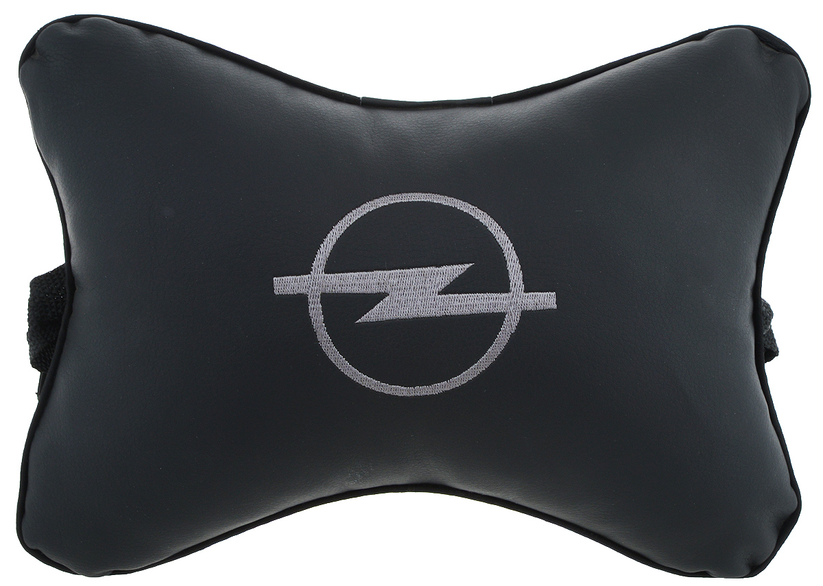 Подушка автомобильная Autoparts Opel, на подголовник, цвет: черный, серый, 27 х 20 см1004900000360Автомобильная подушка Autoparts Opel, выполненная из эко-кожи с мягким наполнителем из холлофайбера, снимает усталость с шейных мышц, обеспечивает правильное положение головы и амортизирует нагрузки на шейные позвонки при резком маневрировании. Ее можно зафиксировать на подголовнике с помощью регулируемого по длине ремня. На изделии имеется молния, с помощью которой вы с легкостью сможете поменять наполнитель. Если ваши пассажиры захотят вздремнуть, то подушка под голову окажется очень кстати и поможет расслабиться.