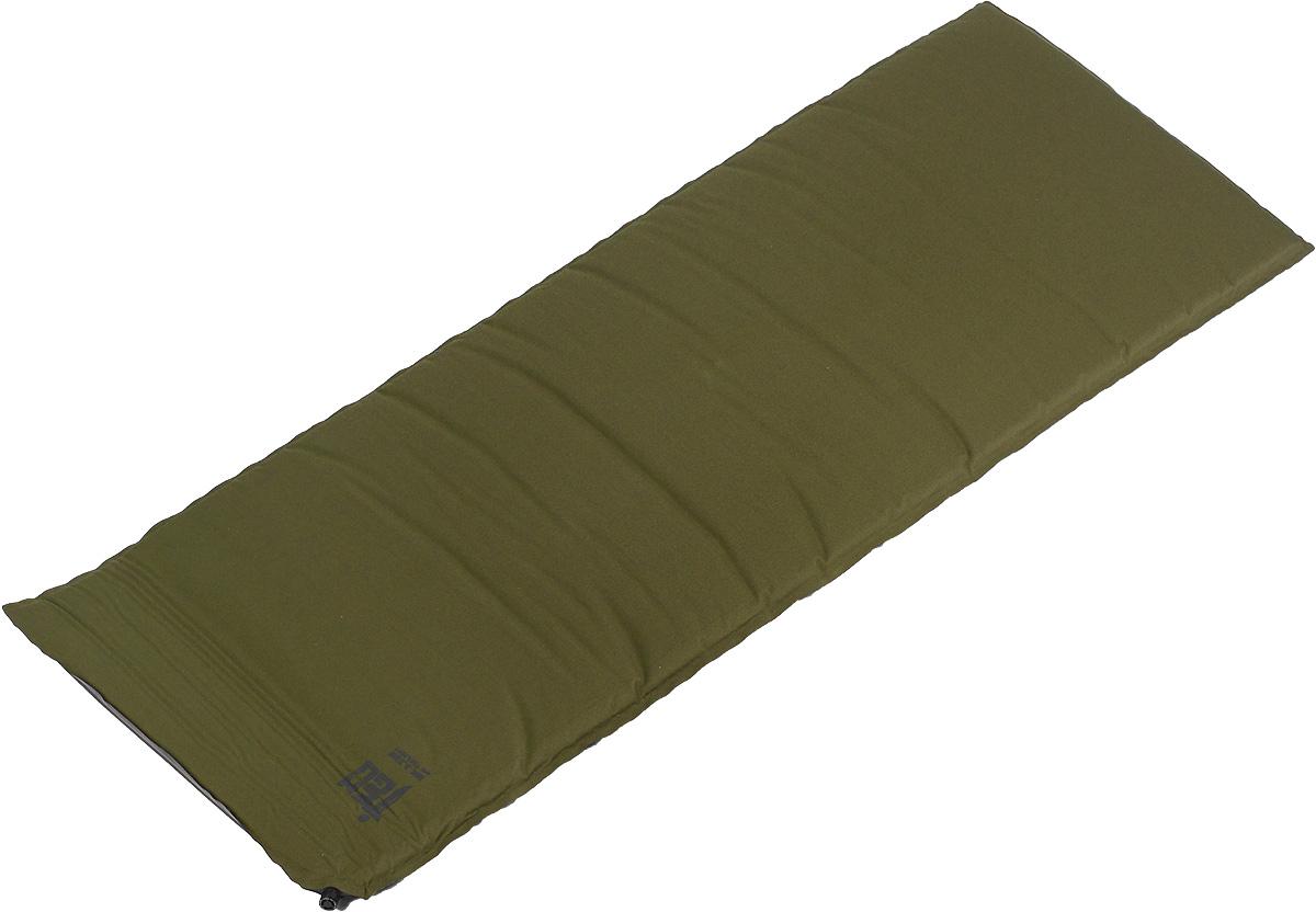 Коврик самонадувающийся Tengu MK 3.23M, цвет: оливковый, 183 х 66 х 5 смSPIRIT ED 1050Коврик самонадувающийся Tengu Mark 3.23M с монолитным наполнителем и толщиной в 5 см хорошо приспособлен для теплоизоляции от холодной земли. Благодаря солидной толщине ваш сон не побеспокоят неровности рельефа под дном палатки. Коврик выполнен из полиэстера и полиуретана. Изделие самонадувающееся, что обеспечивает удобство эксплуатации.В комплекте чехол и ремонтный комплект.
