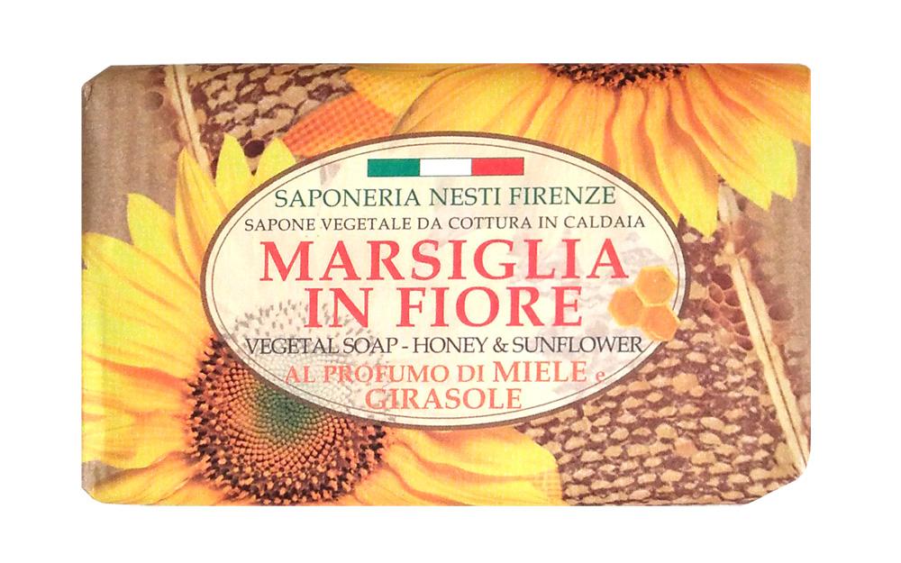 Nesti Dante Мыло Honey & Sunflower Мед и подсолнух 125 гSatin Hair 7 BR730MNРоскошное натуральное растительное мыло линии Цветущий Марсель от Nesti Dante содержит мед и масло подсолнечника, мягко очищает кожу рук, прекрасно пенится и не сушит кож