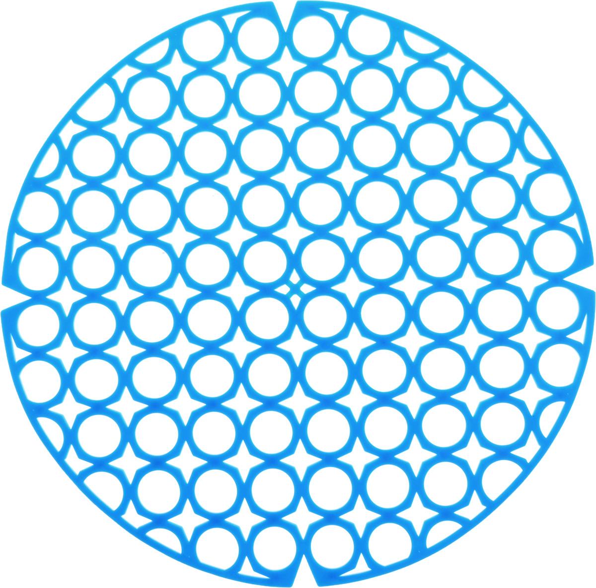 Коврик для раковины York, цвет: голубой, диаметр 27,5 см68/5/4Стильный и удобный коврик для раковины York изготовлен из сложных полимеров. Он одновременно выполняет несколько функций: украшает, защищает мойку от царапин и сколов, смягчает удары при падении посуды в мойку. Коврик также можно использовать для сушки посуды, фруктов и овощей. Он легко очищается отгрязи и жира.Диаметр: 27,5 см.