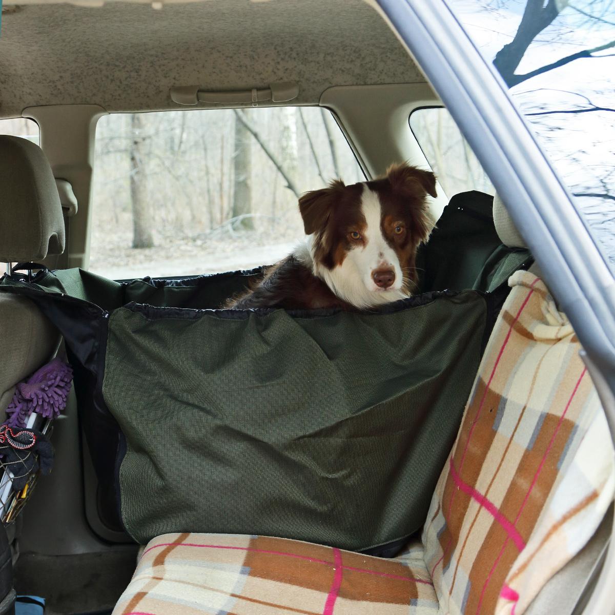 Автогамак для собак OSSO Fashion Car Premium, 135 x 50 см0120710Автогамак OSSO Fashion Car Premium представляет собой функциональное приспособление для перевозки собак в салоне машины. Этот автогамак идеально подойдет для транспортировки питомца на заднем сиденье, защитит его от царапин и грязи. Незаменим при транспортировке животного после прогулок на природе, поездки в ветклинику, на выставку, охоту, рыбалку и дачу, не опасаясь испачкать или поцарапать сидения и обивку дверей. Изготовлен из прочной, дублированной, водостойкой и морозоустойчивой ткани на подкладке. Конструкция гамака предохраняет питомца от соскальзывания и передвижения по салону во время движения и резкого торможения. Чистка такого гамака не составляет никакого труда: просто стряхните засохшую грязь и песок щеткой, а затем протрите поверхность влажной губкой или тряпкой.Изделие крепится к подголовникам переднего и заднего сидений с помощью молний с замками автомат. Стелется по спинке заднего сидения, по заднему сидению и идет вверх к переднему подголовнику.