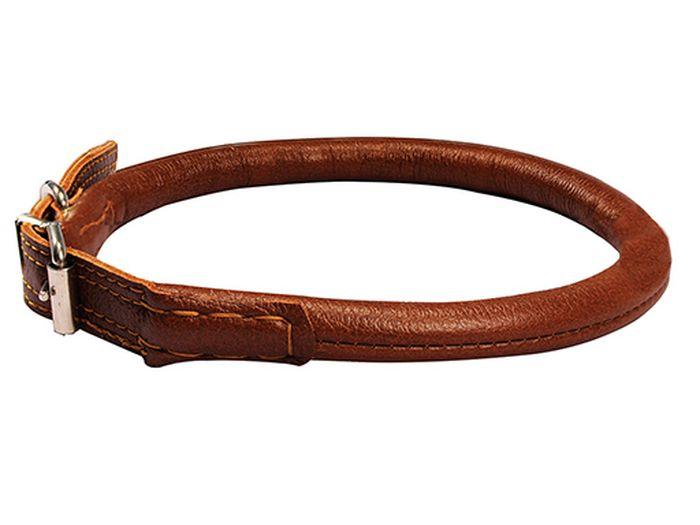 Ошейник Каскад Элита, круглый, 14 мм, длина 55-63 см, цвет: коричневый12171996оОшейник Каскад Элита изготовлен из высококачественной кожи - Top Grain Leather. Это кожа, которая получается после отрезания верхнего слоя в 1,5 мм. Кожа очень прочна, долговечна и устойчива к механическим воздействиям. Ошейник украшен качественной фурнитурой. По краю изделия идёт двойная отстрочка, что делает его ещё прочнее.Длина: 55-63 см.Ширина: 14 мм