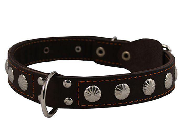 Ошейник для собак Каскад Классика, двойной, цвет: черный, ширина 2,5 см, обхват шеи 39-46 см. 000250410120710Ошейник для собак Каскад Классика изготовлен из натуральной кожи, устойчивой к влажности и перепадамтемператур. Клеевой слой, сверхпрочные нити, крепкие металлические элементы делают ошейник надежным и долговечным.Изделие отличается высоким качеством, удобством и универсальностью.Размер ошейника регулируется при помощи пряжки. Минимальный обхват шеи: 39 см. Максимальный обхват шеи: 46 см. Ширина: 2,5 см.