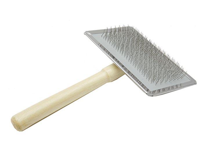 Пуходерка Каскад, деревянная ручка, без шариков, размер L3356Пуходерка деревянная ручка без шариков L