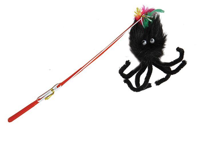 Игрушка для животных Каскад Удочка с пауком, длина 30 см игрушка для животных каскад барабан с колокольчиком 4 х 4 х 4 см