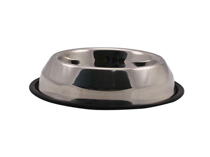 Миска для животных Каскад, из нержавеющей стали, на резине, пирамида, объем 1,5 л5015Миска из нержавеющей стали на резине пирамида 1,50л.