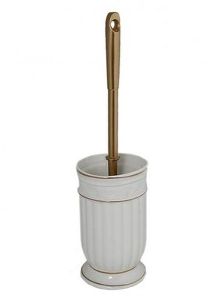 Ершик для унитаза Vanstore Allure, с подставкой, 2 предмета382-06Ершик для унитаза Vanstore Allure выполнен из металла и пластика с жестким ворсом. Он хранится в специальной керамической подставке. Ерш отлично чистит поверхность, а грязь с него легко смывается водой.Стильный дизайн изделия притягивает взгляд и прекрасно подойдет к интерьеру туалетной комнаты.Размер ершика: 12 х 12 х 39 см.
