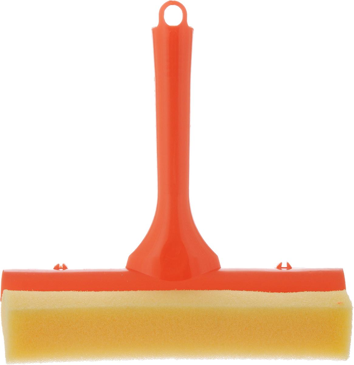 Стеклоочиститель York, с водосгоном, цвет: оранжевый, 19,5 смVT-1840-BKСтеклоочиститель York, выполненный изсложных полимеров, поролона и резины, станетнезаменимым помощником при уборке. Онстирает жидкость со стекла благодаря мягкойгубке, а для полного вытирания имеетсярезиновый водосгон. С помощью регулируемоголезвия стеклоочистителя можно подобратьнеобходимую длину. Длина ручки: 16 см.Ширина рабочей поверхности: 19,5 см.