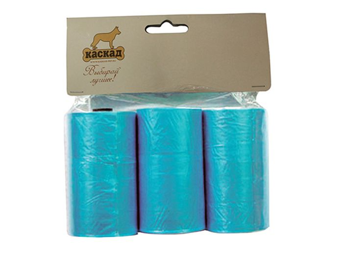Гигиенические пакеты Каскад, для совка гигиенического и улицы, комплект 3 шт3003Комплект пакетов (3шт) для совка гигиенического для улицы