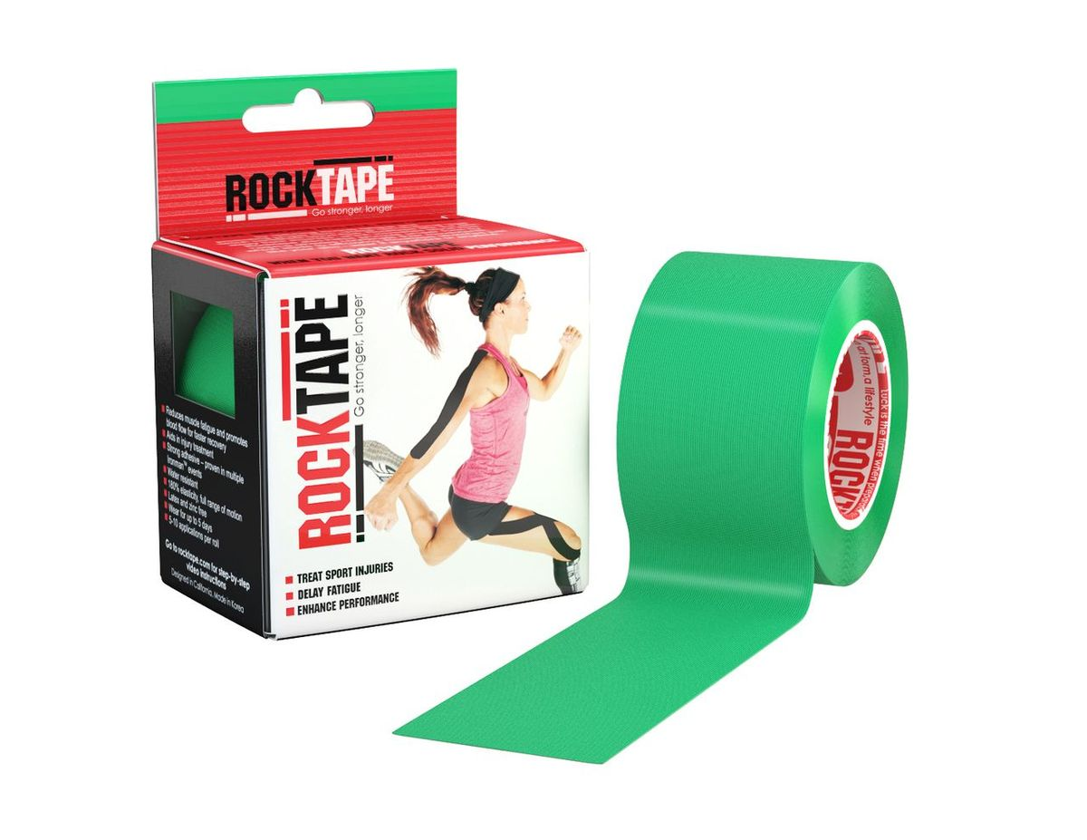 Кинезиотейп Rocktape Classic, цвет: зеленый, 5 x 500 смAIRWHEEL M3-162.8Кинезиотейп Rocktape Classic, выполненный из хлопка и нейлона, предназначен для снятия отеков и рассасывания гематом. Уменьшает мышечную усталость и способствует притоку крови для более быстрого восстановления. Изделие имеет плотную волнообразную структуру ткани. Не содержит латекса и цинка, водостойкий. Кинезиотейп носится до 5 дней, не теряя своих свойств. 180% эластичности.
