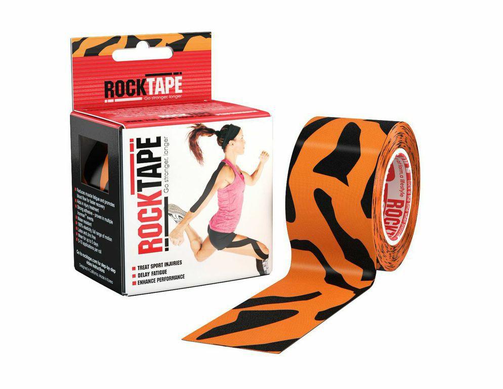 Кинезиотейп Rocktape Design, цвет: оранжевый, черный, 5 x 500 смSF 0085Кинезиотейп Rocktape Design предназначен для снятия отеков и рассасывания гематом. Уменьшает мышечную усталость и способствует притоку крови для более быстрого восстановления. Не содержит латекса и цинка. 180% эластичности.